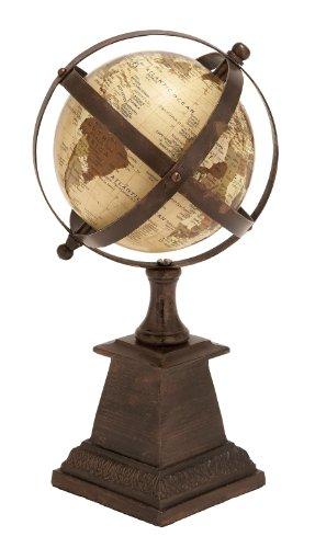 Deco 79 Globe en Aluminium avec 15,2 cm Nautique Maritime Décor, 30,5 cm