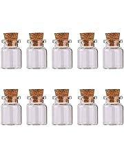 Mini szklane butelki słoiki na zaklęcie z korkiem zatyczka szklane fiolki próbka butelki mikstura do samodzielnego wykonania dekoracja ślubna przyjęcie 2 ml 10 szt