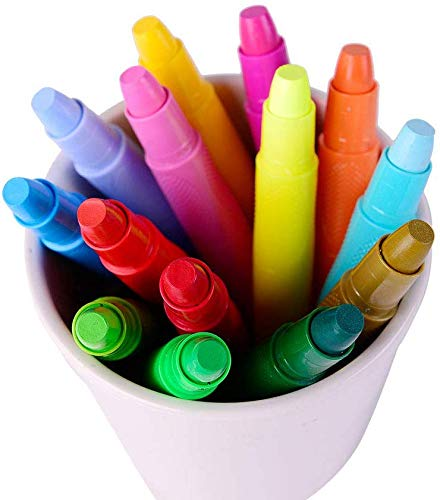 Mont Marte Oil Pastels for Kids 24 Colour art Water Pastel for Classroom and Art Coloring