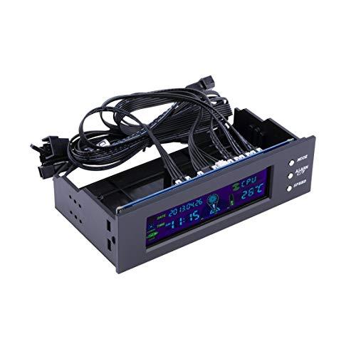 Controlador LCD Panel CPU Velocidad del ventilador Temperatura Display 5,25 pulgadas de velocidad del ventilador PC Durable Controller Aire colded control del ventilador (como muestra la fotografía)