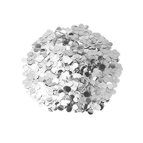 Toyvian confeti de papel de seda plateado para accesorios de globos decoraciones de fiesta de feliz cumpleaños, 1 cm 50 g