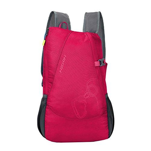 Hexin Damen Rucksäcke/Rucksack, sehr leicht, faltbar, Unisex, rot, OS