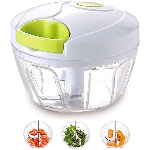 laiwu manual de alimentos picador para verduras frutas frutos nueces cebollas picador mano tirón picadora batidora mezclador procesador de alimentos blanco