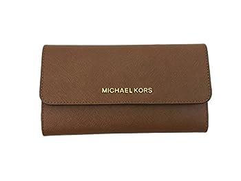 Michael Kors Jet Set Travel Large Trifold Leather Wallet  Luggage