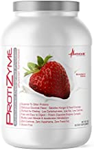Metabolic Nutrition | Protizyme | 100% Whey Protein Powder | High Protein, Low Carb, Low Fat with Digestive Enzymes, 24 Essential Vitamins and Minerals | Strawberry Creme, 2 Pound