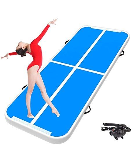 RPOLY Airtrack Gymnastikmatte Tumbling Matte, 3m / 4m / 5m / 6m / 7m / 8m Air Bodenmatte Avec Pompe Electrique für Outdoor Sporttraining Cheer,Blue_7x1x0.1m