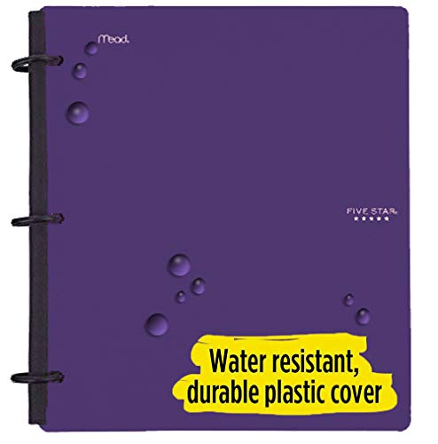 Five Star Flex Hybrid NoteBinder, 1-1/2 Inch Binder with Tabs, Notebook and 3 Ring Binder All-in-One, Purple (72518) Photo #3