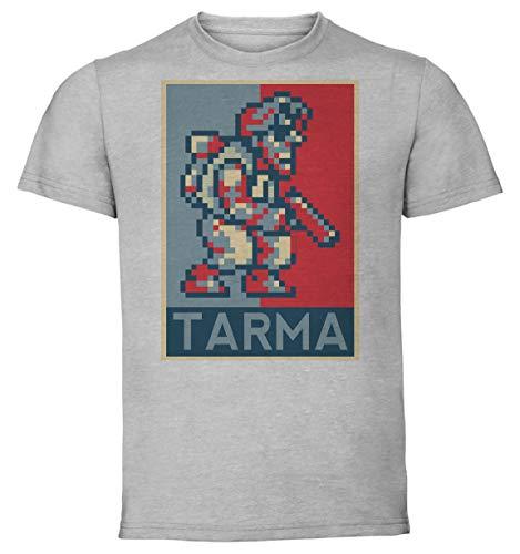 Instabuy T-Shirt Unisex - Color Gray - Propaganda - Pixel Art - Metal Slug - Tarma Roving Taglia Extra Large