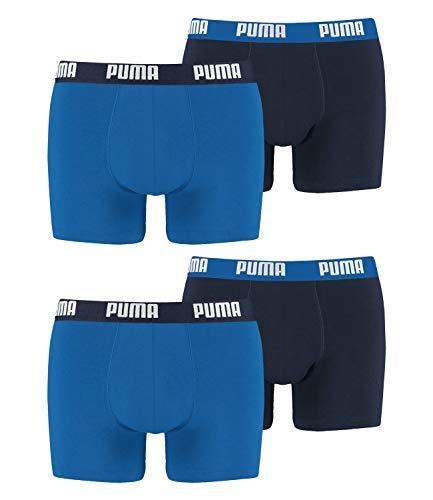 PUMA Boxershort 4er Pack Herren 4 Boxer Edition (True Blue/True Blue-420, S)