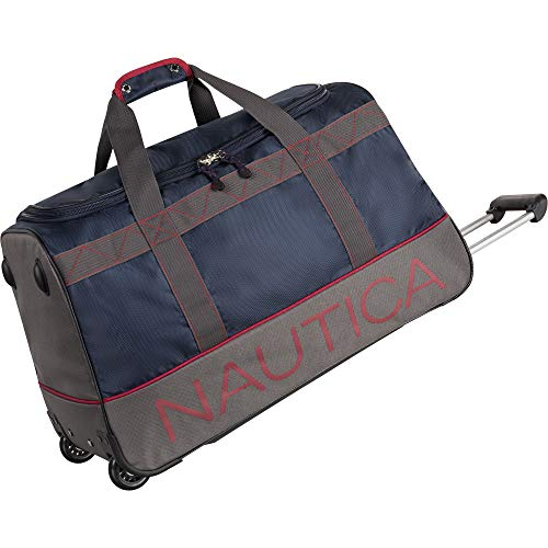 Nautica Luggage, NAVY/GREY/RED, 26