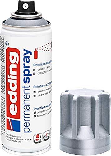 edding 5200 - Spray permanent - Argent précieux mat - 200 ml - peinture à pulvériser acrylique pour peindre et décorer sur presque toutes les surfaces