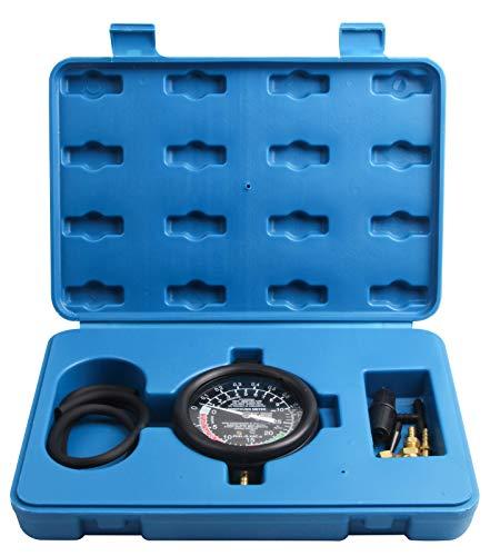 LLCTOOLS Vakuumtester Unterdruck Tester Set Vakuum Messen Benzinpumpe Drucktester Vakuum Tester