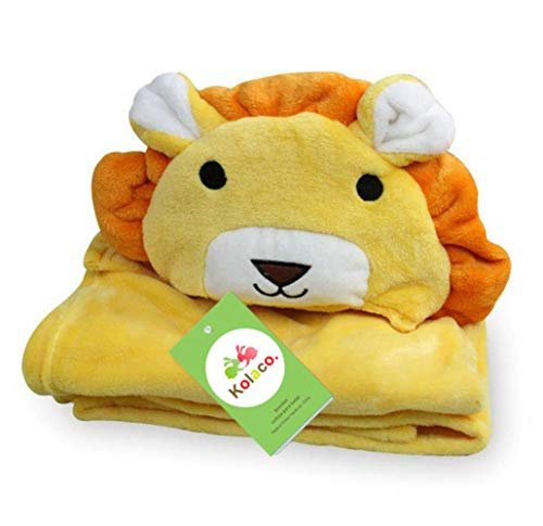 Mooie fleece baby badhanddoek schattige dierenvorm kind hooded baby handdoek badjas mantel baby ontvangend deken # 8, oranje