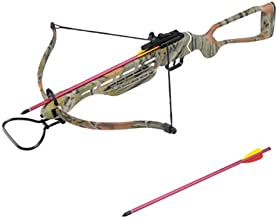 Wizard Archery 150 lbs Hunting Crossbow w/ 4x20 Scope, 8 Arrows and Rope Cocking Device