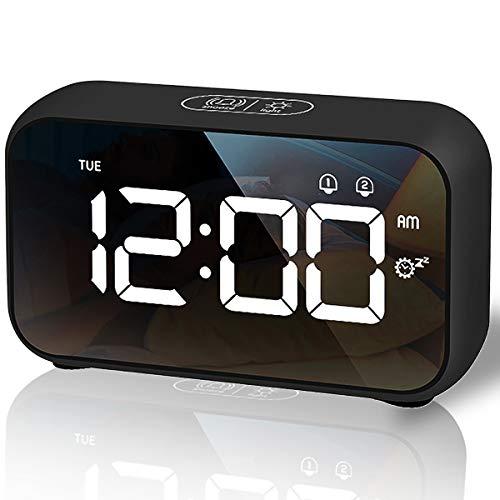 Sveglia Digitale, Sveglia da Comodino LED con 40 suonerie opzionali