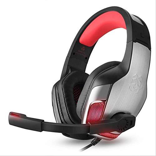 GGOII Kopfhörer Hunterspider Gaming Headset für einen PS4-PC Bass Surround Noise Cancelling über Ohr Spiel Kopfhörer mit Mic Led LightRed