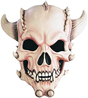 skull with horns mask