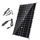 sZeao Panel Solar De 40W Cargador De Batería Monocristalino...