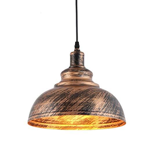 LIUYU Iluminación Industrial Edison Pendiente de la Vendimia la Bombilla de la lámpara de Cobre Titular Estadounidense Pasillo Enciende la lámpara 110 220V Luz (Body Color : Oro, Size : Gratis)