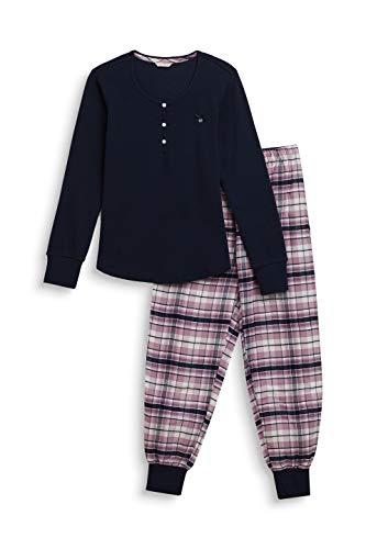 ESPRIT Mädchen Janeth YG NW Pyjama Zweiteiliger Schlafanzug, Blau (Navy 400), (Herstellergröße: 164)