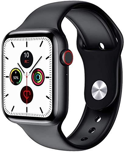 MPWPQ IP68 Orologio intelligente impermeabile Iwo W26 Smartwatch EKG Bluetooth chiamata Smart Clock Tracker pressione arteriosa 1,75 pollici schermo IPS (colore: nero)