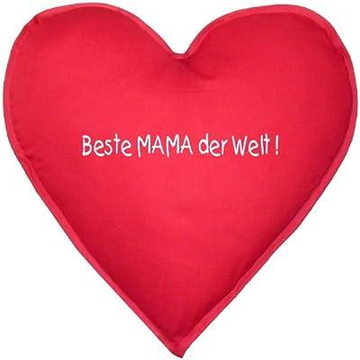 Liebevolles Kissen in Herzform! Beste Mama der Welt Schönes Geschenk! ca. 40x40cm