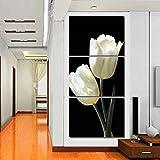 XIANRENGE Leinwanddrucke 3 Stück,Weiße Lilie Blume Blumen