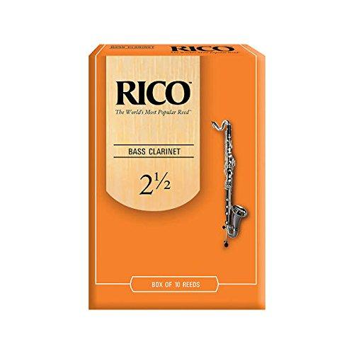 Rico Bass Clarinet Reeds #2 1/2 - 10 Pack Bass Clairnet Reeds REA1025