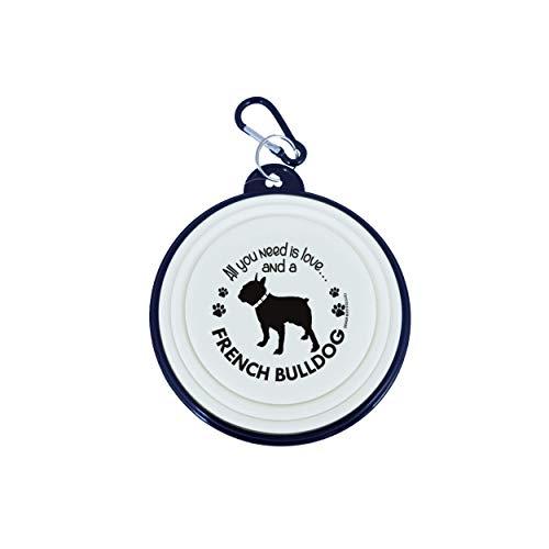 Reise-Hundenapf, zusammenklappbar, für kleine Hunde (Französische Bulldogge)