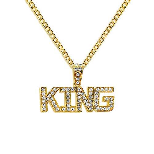 GJNBF Libros Colgante de Collar de la joyería Reina de la Moda Femenina declaración de Hip-Hop Femenino de Cadena Larga Collar de Regalo de la señora Kim,