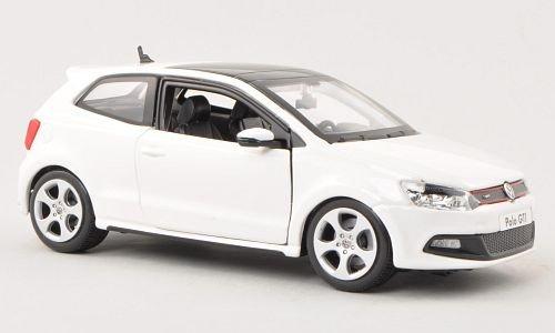 VW Polo V GTI, weiss , Modellauto, Fertigmodell, Bburago 1:24