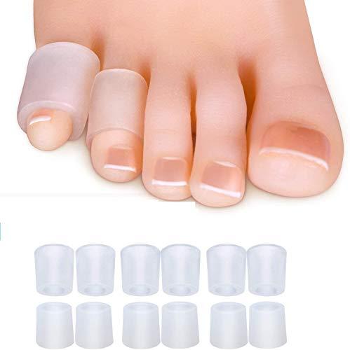 Sumifun Protettori Punta Gel x 12 Protezione Gel Dita, Per le Dita Dei Piedi, Mignolo Gel - Prevenire Vesciche, Protect per blister, unghie incarnite,