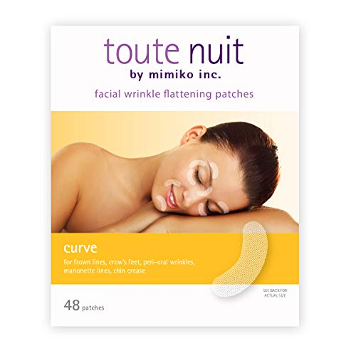 Toute Nuit Wrinkle Patches, Face Tape, Curve - Reducing Fine Lines Around Eyes and Mouth - 48 Patches