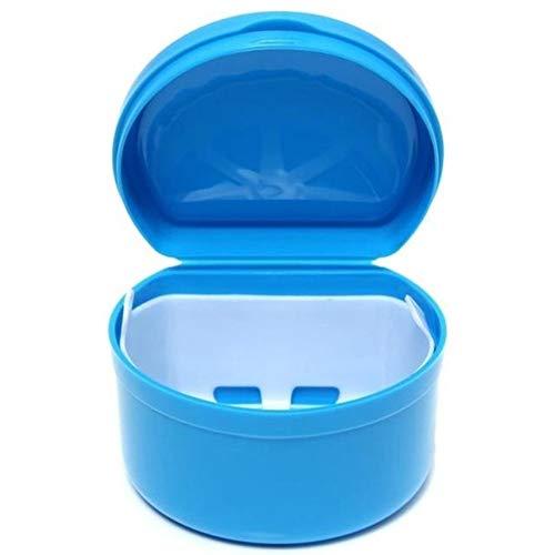 Zahnersatz Nippel Schmuckschachteln Klein Aufbewahrungsschachtel während Reise - Plastik Zahnprothese Bade Kiste - Blau