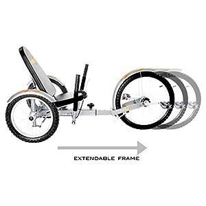 Mobo Triton Pro Recumbent Tricycle for Men & Women. 3-Wheeled Bike. Cruiser Lowrider Trike