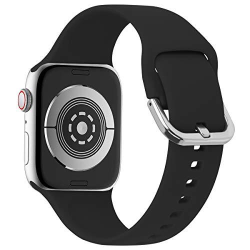 Anzhee Compatibel met Apple Watch Band 38mm 40mm 42mm 44mm Silicone Sport iwatch Loop Band Vervangende Polsband voor Apple Watch Series 5 4 3 2 1,Nike+, Edition