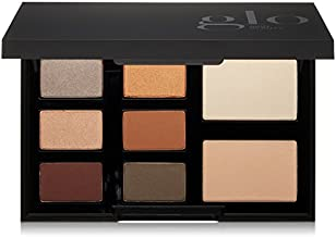 Glo Skin Beauty Eye Shadow Palette in Mixed Metals - Smokey Brown - 8-Color in 4 Shade Options - Powder Eyeshadow Kit