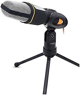 PIXNOR Multimedia Sonido de Condensador micrófono de Podcast Estudio con Soporte para Skype MSN Karaoke PC portátil