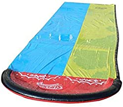 Slip and Slide N Water Pool Kids Inflatable Kid Slides for Adults Adult-Children Water Slide Garden Racing Double Water- Slide Spray Summer Toy for Outdoors