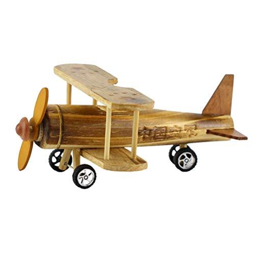 Vosarea Avion en bois Kits dartisanat en bois avion Figurines de collection cadeaux danniversaire enfants Learning Education Toys