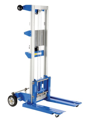 Vestil A-LIFT-S-HP Adjustable Straddle Hand Winch Lift Truck, 42-1/2' Length, 43-1/4' Width, 68' Height, 400 lbs Capacity