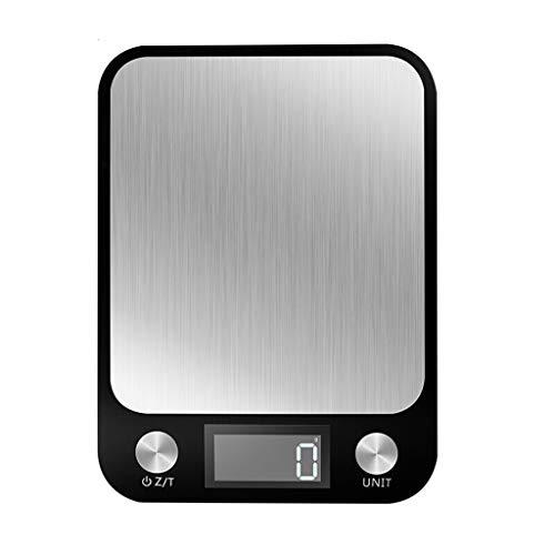 YQLHJ Escala electrónica Cocina de hogar Precisión Acero Inoxidable Balanzas electrónicas Alimentos para Hornear Escalas 10 kg a Prueba de Agua Báscula de Cocina báscula