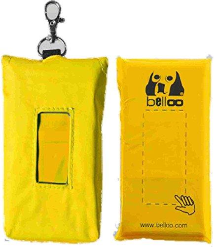 belloo Poco Nachfüller + gelbes Etui, 2 x 30 Bellookotbeutel zur Befestigung an Hosengürtel und Hundeleine