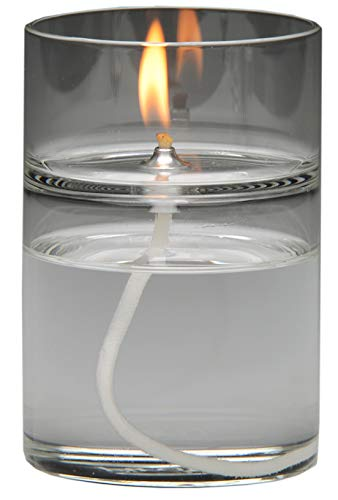 Firefly Zen Glass Essential Oil Warmer and Aromatherapy Candle - Oil Lamp Burns 48+ Hours. Use The Oil Burner with a Home Fragrance or Unscented