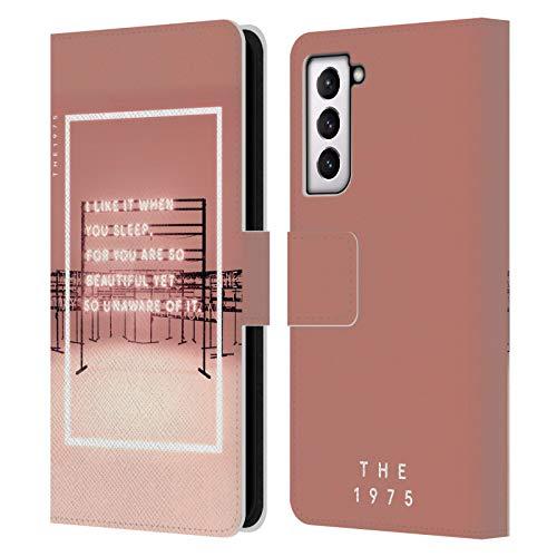 Head Case Designs Licenza Ufficiale The 1975 I Like It When You Sleep Canzoni Cover in Pelle a Portafoglio Compatibile con Samsung Galaxy S21 5G