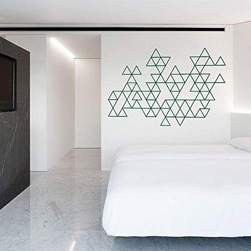 Wall Stickers Wall Stickers Abstract Triangular Shape Pattern Wall Decal Modern Geometric Sticker Home Livingroom and Hotel Decoration-H618 Green_110x74cm