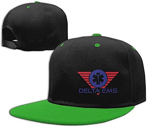 Inlenged Home Delta EMS Unisex Baseball cap Adjustable Hat Dad cap Contrast Hip Hop Baseball cap