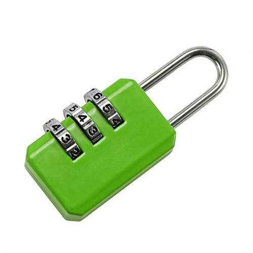 HCZ 3 dial Password Lock Kombination Koffer Gepäck Metall-Code Password Lock Padlock (Farbe : Grün)