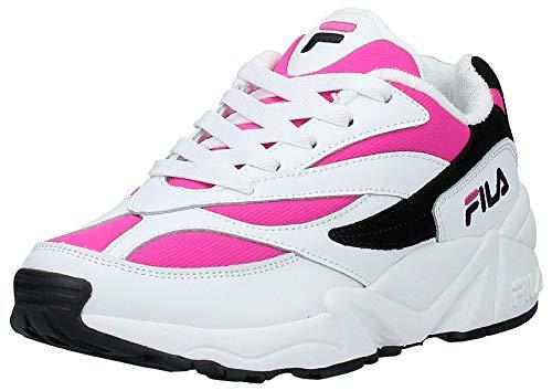FILA Zapatos Mujer Zapatillas Bajas 1010291.02L V94M Low WMN Talla 37 Bianco/Fucsia