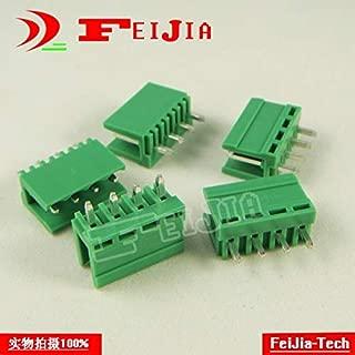 Davitu (50pcs/lot) HT3.96-4P Straight Pin Screw Terminal Block Connector 3.96mm Pitch 4 Pins Socket